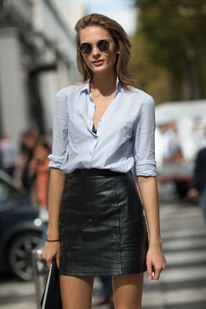 Outfits con faldas de cuero: tendencia 2020-2021 | Beni Room